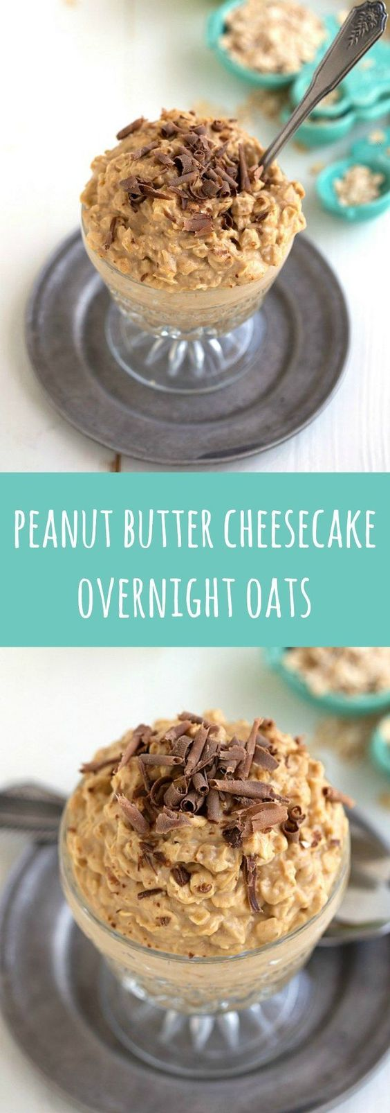 These delicious peanut butter cheesecake overnight oats make for an easy, quick, and healthy breakfast or snack option.