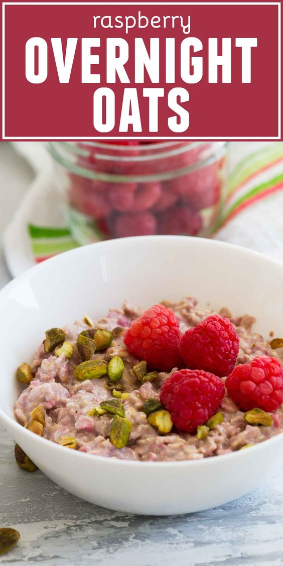 These raspberry overnight oats take just 5 minutes of prep time and provide you with a hearty, healthy and hassle free breakfast you can feel good about all day long.
